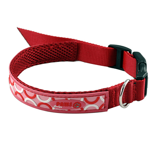 Collar Para Mascota Crazy Paws Pop Rojo  DPETC012-POP-RD