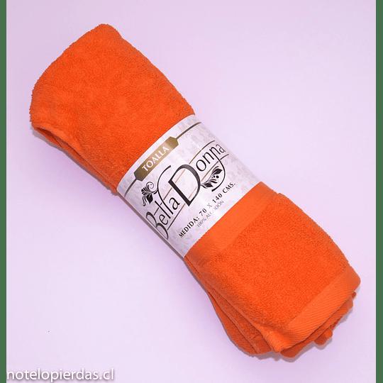 Toalla Bella Donna 80x150cm Algodón Naranja