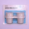 Set de vasos para baño con porta cepillo dientes - Succión