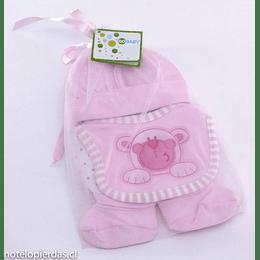 Set Regalo bebé 0-12 meses algodón rosado