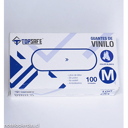 Guantes de Vinilo 100 unidades M / blancos