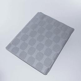 Mantel algodon/lino Gris jack rectangular 145x240