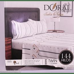 Juego de sábanas 144 hilos Doral 2,5 plazas/king