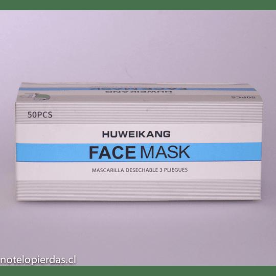 Mascarilla de protección desechable 3 pliegues / 3capas 50 unidades - Verdes