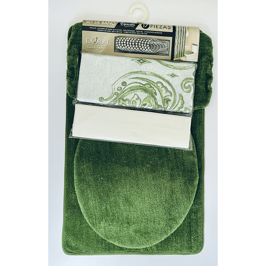 Set de baño 17 piezas Doral Verde