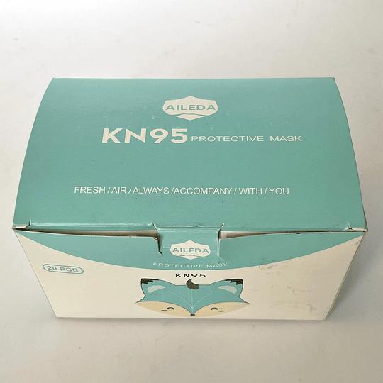 Mascarilla Infantil KN95 20 unidades - Playa