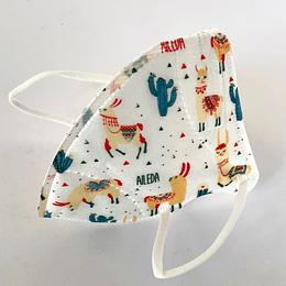 Mascarilla Infantil KN95 - Llama
