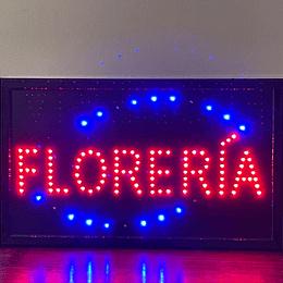 Cartel Led / Led Sign 32x54 Florería