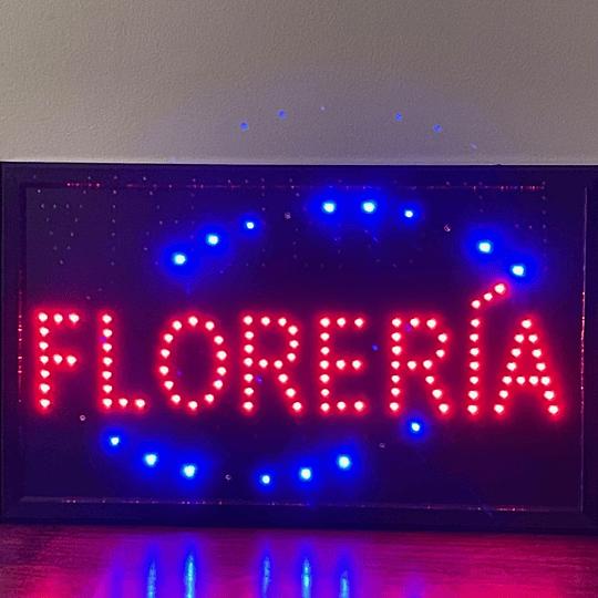 letrero luminoso Led / Led Sign 32x54 Florería