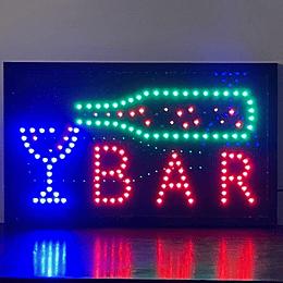 letrero luminoso Led / Led Sign 32x54 Bar