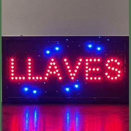 Cartel Led / Led Sign 25x48 Llaves