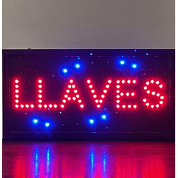 letrero luminoso Led / Led Sign 25x48 Llaves