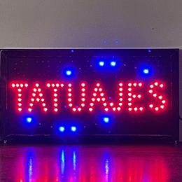letrero luminoso Led / Led Sign 25x48 Tatuajes