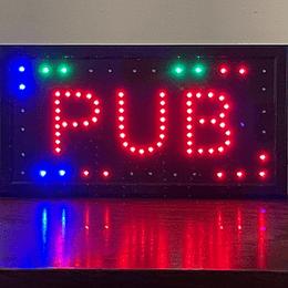 letrero luminoso Led / Led Sign 25x48 Pub