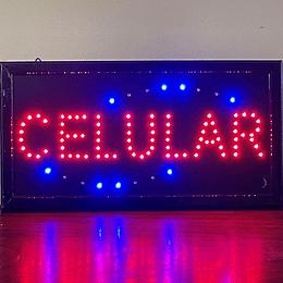 Cartel Led / Led Sign 25x48 Celular