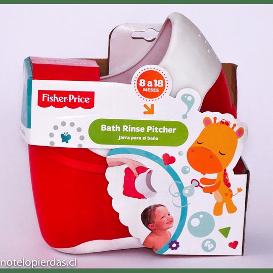 Jarra para el baño Fisher Price roja