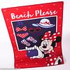 Alfombra Infantil Dib 80x120 Minnie Mouse Beach Please