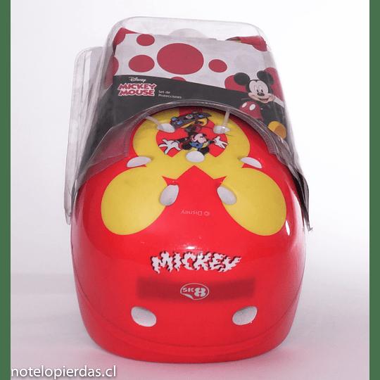 Set de Protecciones + 1 casco  Mickey Mouse Disney