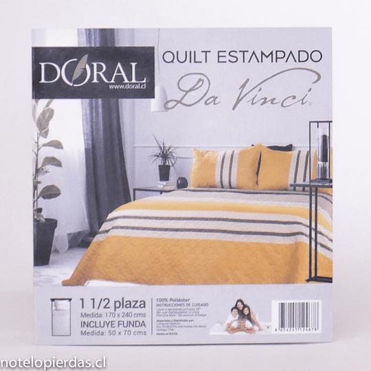 Quilt Estampado Da Vinci Doral 1,5plazas