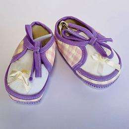 Zapatos de Bebé lila/crema