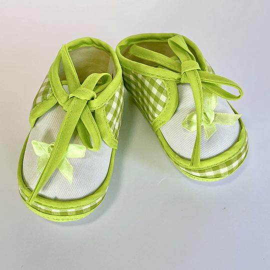 Zapatos de Bebé verde/verde