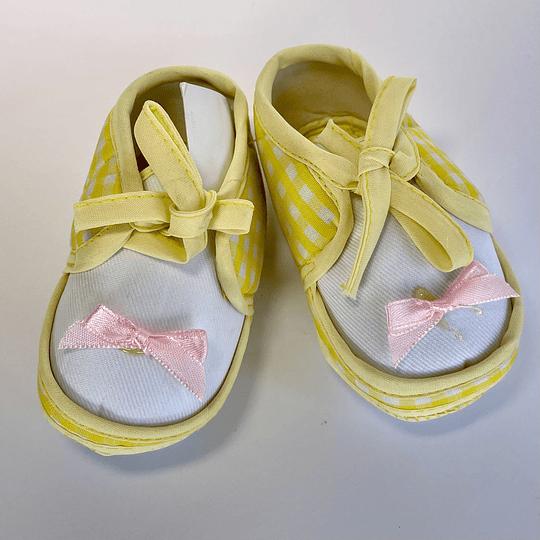 Zapatos de Bebé amarillo/rosa