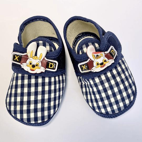 Zapatos de Bebé azul/conejo