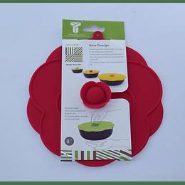 Tapa Silicona 20cm roja