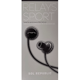 Audífono Relays Sport Sol Republic EP1152BK