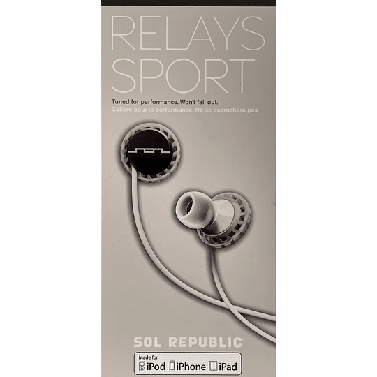 Audífono Relays Sport Sol Republic EP1151WT iphone