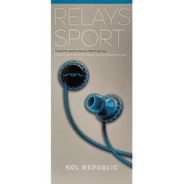 Audífono Relays Sport Sol Republic EP1152BL
