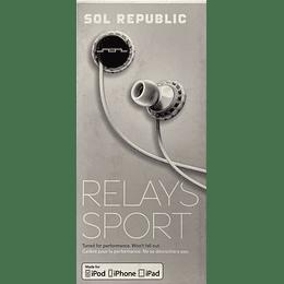 Audífono Relays Sport Sol Republic 1151-41 BLK/WHT iphone