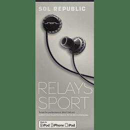 Audífono Relays Sport Sol Republic 1151-31 BLK iphone