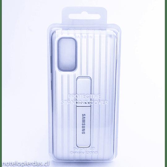 Carcasa con soporte Samsung Galaxy S20, Galaxy S20 5G plateada