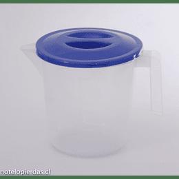 Jarro Plástico con medidas 900cc Tapa azul