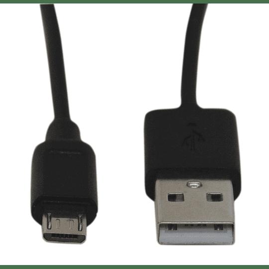 Cable micro USB negro 1,5 metros dag