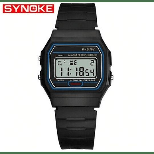 reloj retro Digital  Synoke