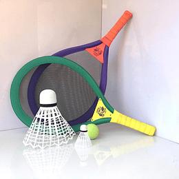 Juego raquetas badmington xl