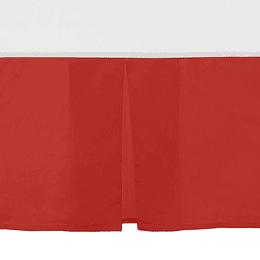 Faldon cama rojo 2 pz