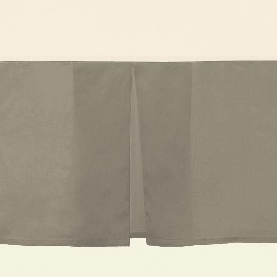 Faldón gris 144 hilos 1,5 plaza