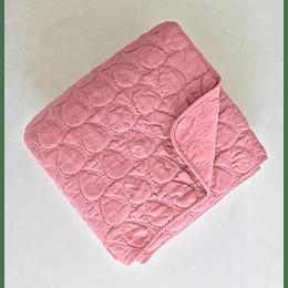 Quilt king rosado