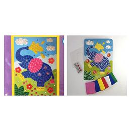 Kit imagina crea alinsa elefante mosaico