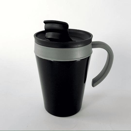 Mug térmico negro 380 ml casaideas