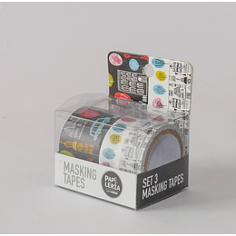 Masking Tapes 3uds. Diseño