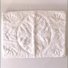 alfombra baño blanca 50x70
