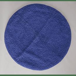 alfombra de baño redonda azul