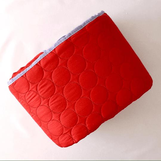 Quilt Heat color rojo 2 plazas