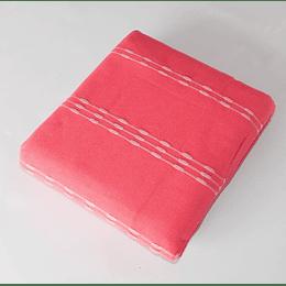 Cubrecama algodon rojo 1,5 pz