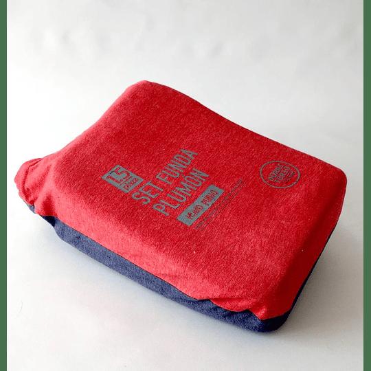 Set funda plumón tejido punto 1,5 pz rojo azul