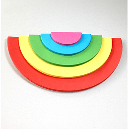 notas adhesivas arcoiris